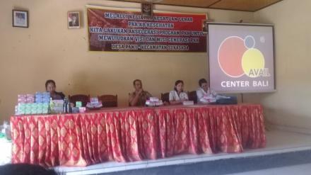 Sosialisasi Hidup Sehat Dengan Pembalut Dan Sosialisasi TBC Di Desa Panji Tahun 2018